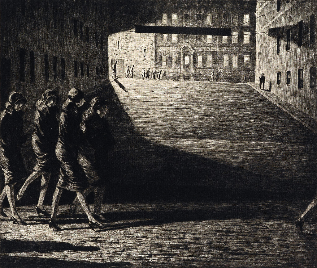 Martin Lewis Shadows On The Ramp Etching Allinson